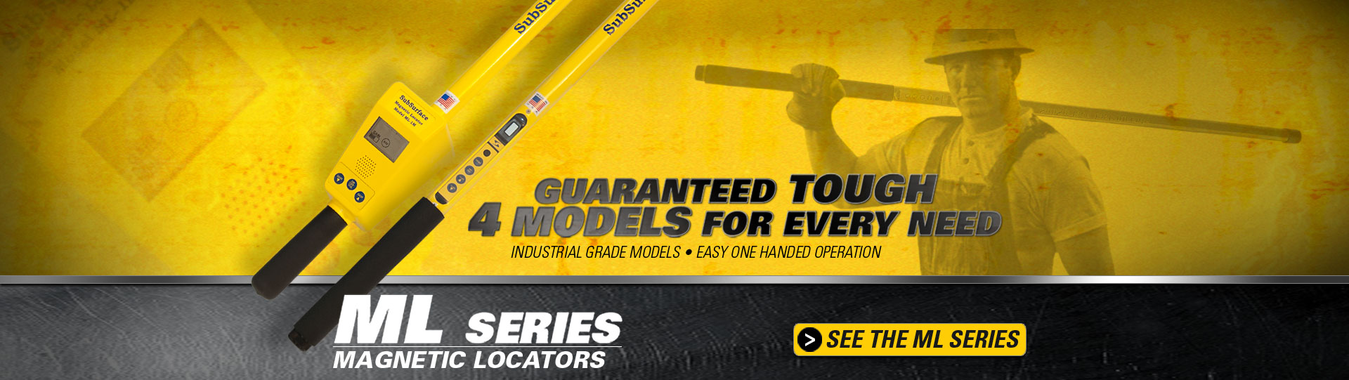 SubSurface Instruments ML (Magnetic Locators) Series - Guaranteed Tough, 4 Models for Every Need