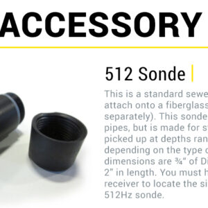 512 Sonde, subsurface Locator accessory, , Made in the USA - SubSurface Instruments Product