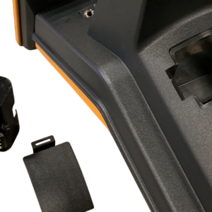 PL-G Pipe and Cable Locator Receiver Closeup of Battery Compartment, Made in the USA - SubSurface Instruments Product
